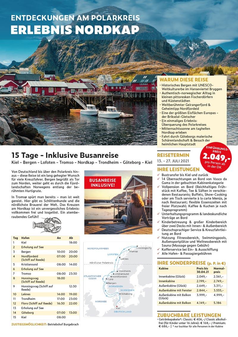 Kreuzfahrt Norwegen Nordkap