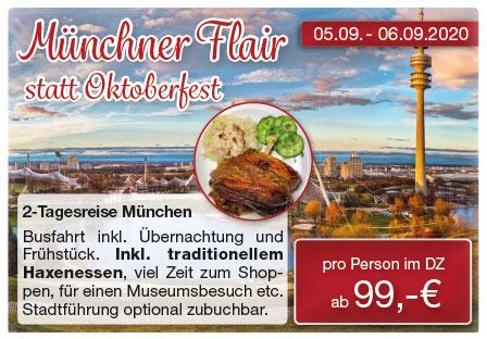 Städtetrip München mit Spörlein Reisen Burgebrach Busreisen