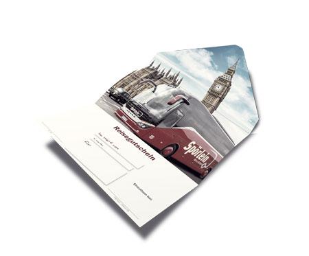 Reisegutschein zum Verschenken bei Spörlein Busreisen Burgebrach